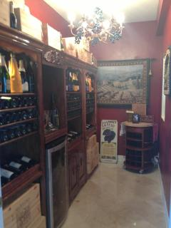 Custom built wine room, bring your favorite vintage or bubbly and store in our Vinotemp