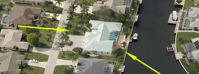 Large triple lot on Gulf Access canal