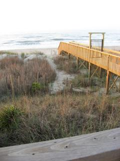 view from your deck: private walkway to beach