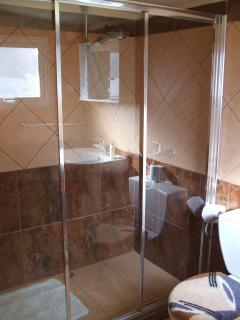 big shower in bathroom