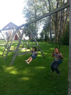 Kids on the swings
