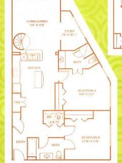 Apartment Floorplan - 1200 sq ft