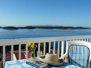 Sea to Sky Views in this Hvar Town Apartment
