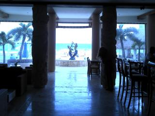 View of the ocean through the Lobby!