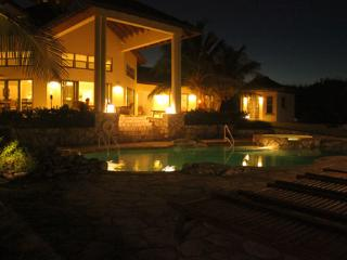 KettleStone Patio and Swimming Pool at Night