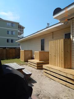 Backyard for the Cherry Grove Beach Bungalows