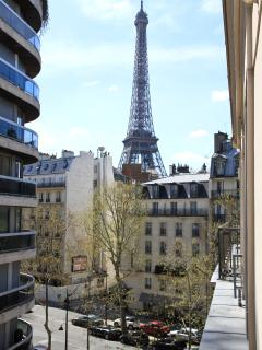 Eiffel Tower View from the Apartment!