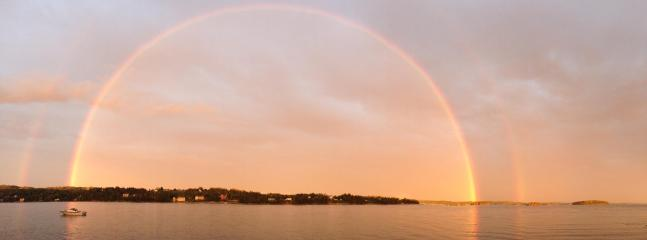 Full rainbow across the bay