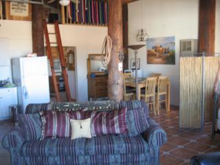 Dining area, ladder to sleeping loft