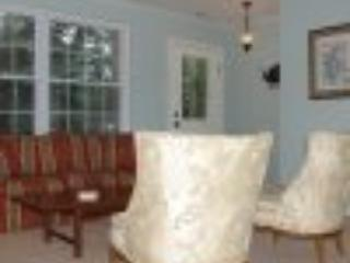 Two seating areas for fireside or a fabulous water view