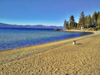 Private sandy beach 500 ft. from property