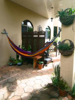 One of two hammocks to enjoy the Panama experience