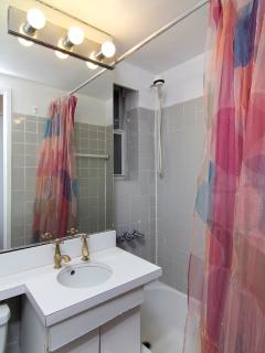 Bathroom includes towels