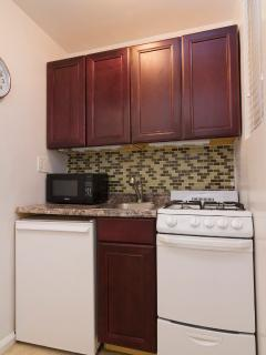 Kitchen with appliances, cookware and utensils inc