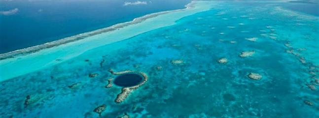 UNESCO world Heritage Site - the Great Blue Hole, made famous by Jacques Cousteau