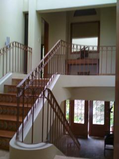 Main entrance allowing you to go downstairs or upstairs to 4 levels