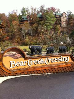 Gated entrance of Bear Creek Crossing