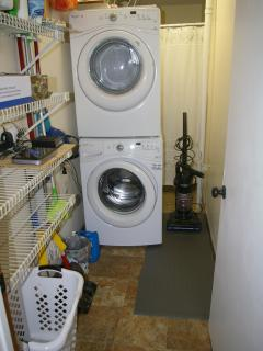 Laundry room and storage area