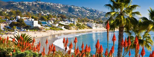 Some of the most beautiful beaches in the world like Laguna beach are closeby