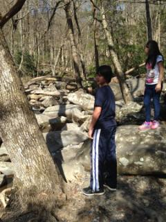 The kids can spend the day on the rocks in the Great Smoky Mt. park