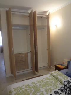 The closet space in each bedroom