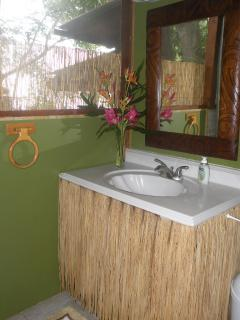 A clean and modern  bathroom for your comfort.
