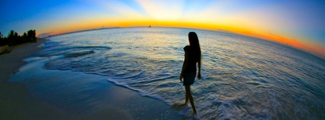 Late evening walk on the beach