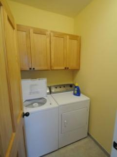 You'll find a convenient full laundry with washer and dryer upstairs.