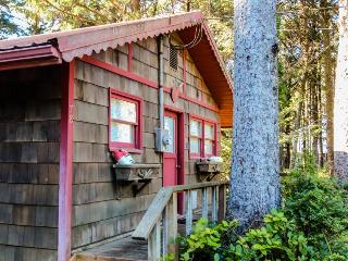 Dog-friendly, romantic cottage in the woods near beach!