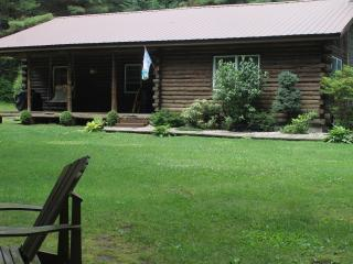 Private Wooded Caroga Creek Log Home by Royal Mtn., Johnstown