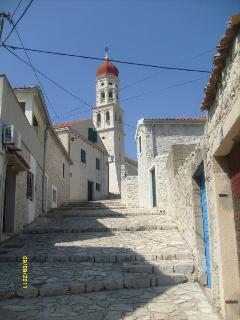 Main street in village Betina