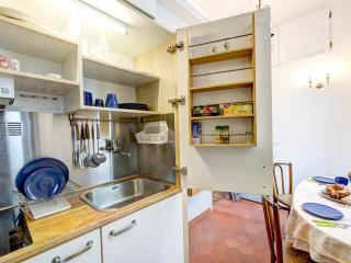 Kitchenette with all that you need to prepare a simple dinner in our studio + refrigerator