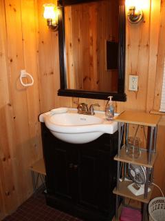 Roomy, full bath with shower