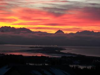 Sunrise over Homer Spit - All pictures from deck
