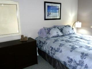 Spacious and bright bedroom, clean and comfortable queen bed