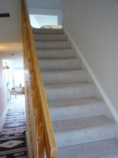 The Stairway to the optional 3rd bedroom & private bath in the loft.