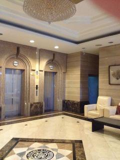 elevator and lobby
