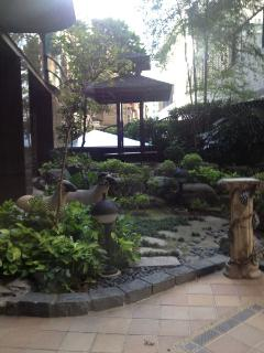 small garden in the building