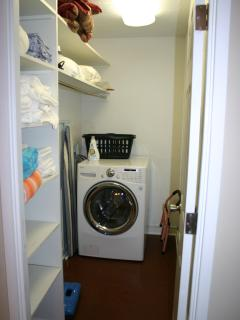 Closet with Washer/Dryer Combo