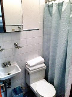 Second full bathroom is smaller.