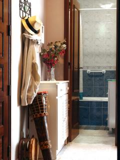 corridor to the bathroom and sleeping room