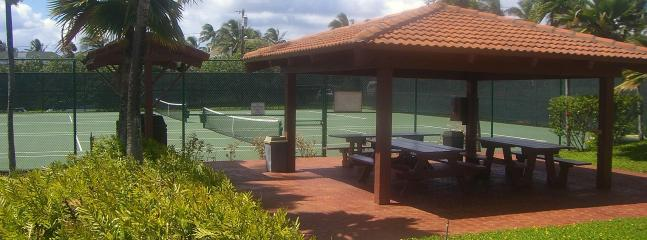 BBQ's and Tennis courts
