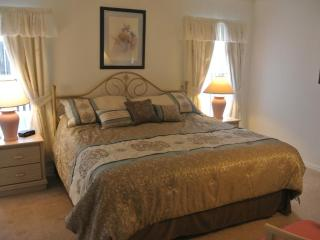 Master bedroom with brand new pillow top mattress bed