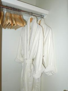 Two luxurious robes in each closet