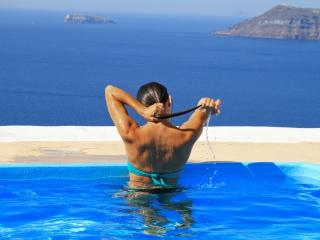 Villa with prvt swimming pool,Volcano view,parking, Oia
