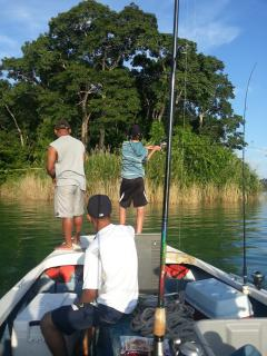 Bass fishing in Lake Gatun from Gamboa