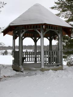Winter Gazebo-Perfect location for Hot Chocolate Station after snowshoe expedition or Pond Hockey
