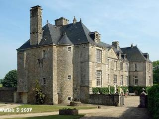 Historic XVII century castle in Normandy, Fontenay-sur-Mer