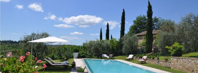 swimming pool with view of Siena