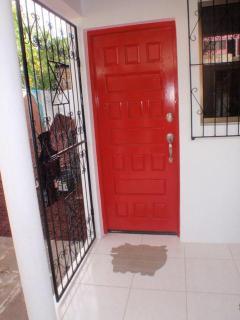 Front Door with Mr. Piggy doormat